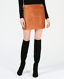 Bar III Faux-Suede Mini Skirt, Created for Macy's