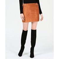 Bar III Faux-Suede Mini Skirt