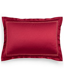 Red Luxe Border King Sham, Created for Macy's