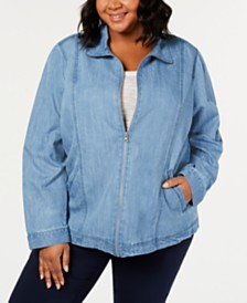 Karen Scott Plus Size Denim Jacket, Created for Macy's