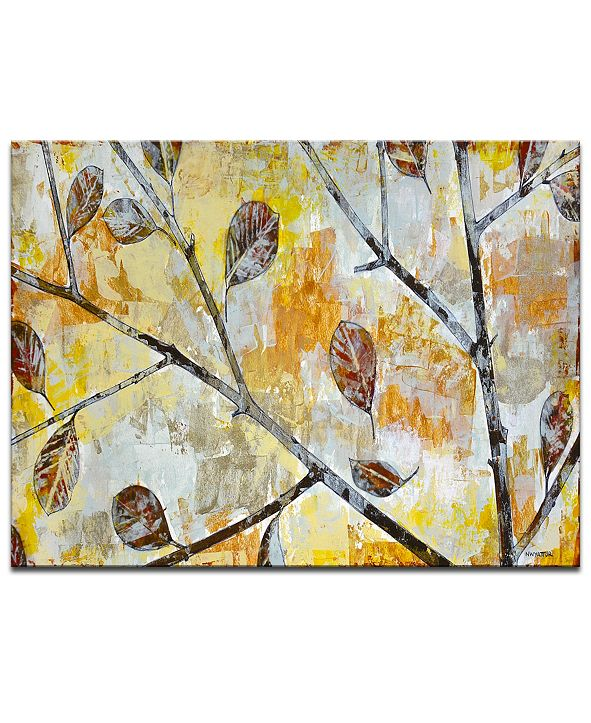 "Ready2HangArt 'Blowing Autumn Leaves' Canvas Wall Art, 20x30"""