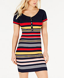 Crave Fame Juniors' Striped Bodycon Dress