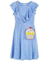 129a9db0b212 Us Angels Big Girls 2-Pc. Printed Dress & Purse Set