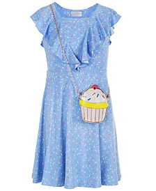 Us Angels Big Girls 2-Pc. Printed Dress & Purse Set