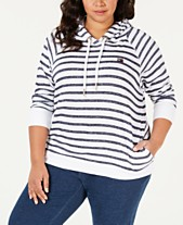 Tommy Hilfiger Sport Plus Size Striped Pullover Hoodie 8203c6e5f