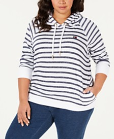 c4945cd055522 Tommy Hilfiger Sport Plus Size Striped Pullover Hoodie