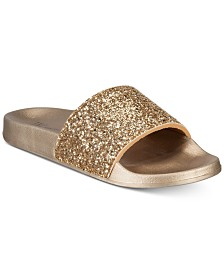 I.N.C. Glitter Pool Slides, Created for Macy's