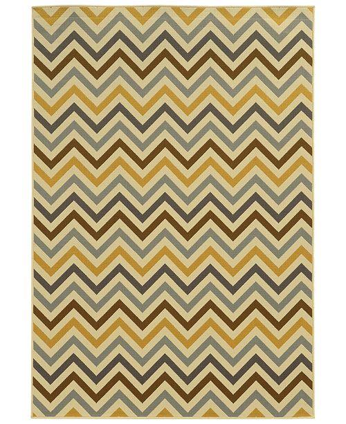 """Oriental Weavers Riviera 4593 6'7"""" x 9'6"""" Indoor/Outdoor Area Rug"""