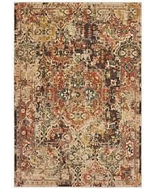 "Oriental Weavers Toscana 9555B Charcoal/Orange 7'10"" x 10'10"" Area Rug"