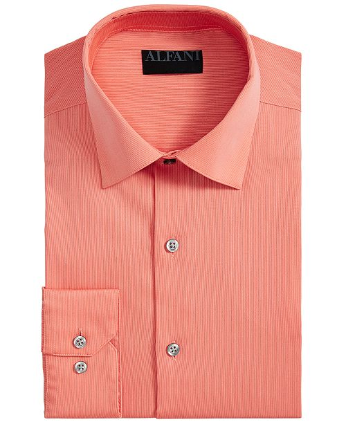 Alfani Men's Bedford Cord Classic/Regular Fit Dress Shirt, Created For Macy's