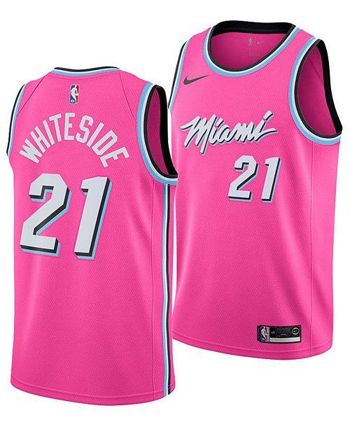 bad72620 ... Nike Men's Hassan Whiteside Miami Heat Earned Edition Swingman Jersey  ...
