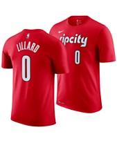 4b0243399 Nike Men s Damian Lillard Portland Trail Blazers Earned Edition Player T- Shirt