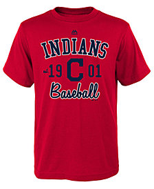 Majestic Cleveland Indians Baseball Script T-Shirt, Little Boys (4-7)