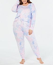 Jenni Plus Size Soft Knit Pajama Set, Created for Macy's