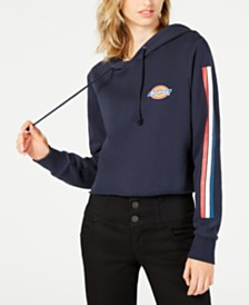 Dickies Cropped Cotton Striped Hoodie