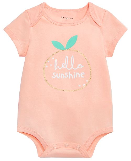 First Impressions Baby Boys or Girls Hello Sunshine Graphic Bodysuit, Created for Macy's
