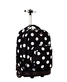"""Dots 19"""" Rolling Backpack"""