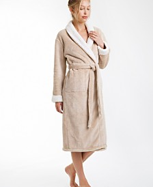 Keila Sherpa Fleece Robe, Large