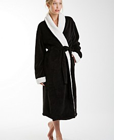 Keila Sherpa Fleece Robe, Large