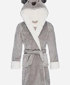 Kids Hooded Fleece Sherpa Robe, Small