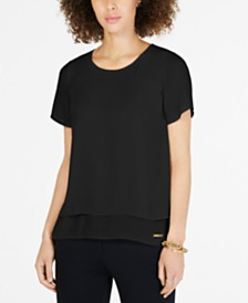 MICHAEL Michael Kors Split-Back Top