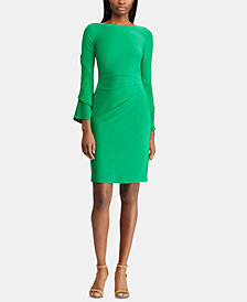 Lauren Ralph Lauren Petite Ruffle-Sleeve Dress