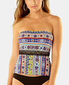 Anne Cole Studio Tile Tease Lace-Up Tankini Top