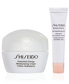 Receive a Free 2 pc skincare gift with $75 Shiseido purchase!