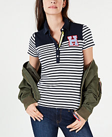 Tommy Hilfiger Striped Colorblocked Polo Shirt