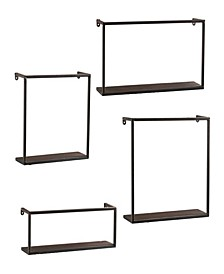 Holly and Martin Zyther Metal 4 Piece Wall Shelves Set