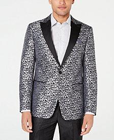 Tallia Men's Slim-Fit Leopard Print Dinner Jacket