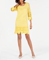 e44af7245e4 Alfani Crochet-Trim Illusion Dress