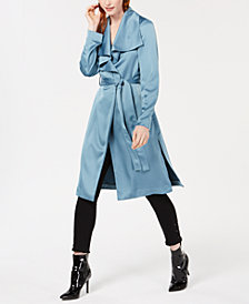 Bar III Drape-Front Duster Jacket, Created for Macy's