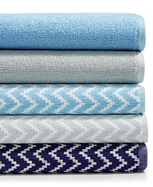 CLOSEOUT! Cobra Reflections and Chevron Mix and Match Bath Towel Collection
