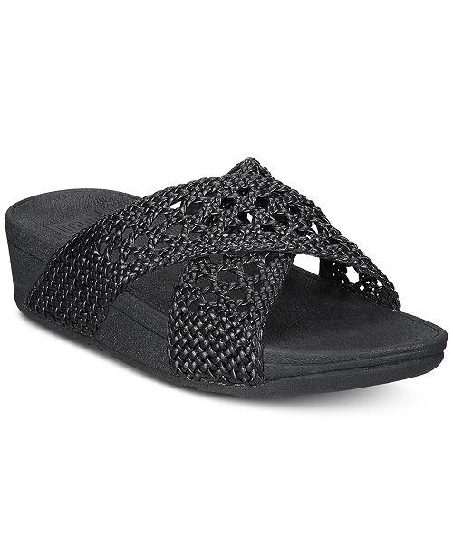 53fcd86c3 FitFlop Lulu Wicker Slide Sandals  FitFlop Lulu Wicker Slide Sandals ...
