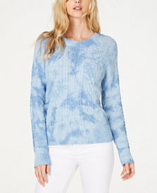 I.N.C. Petite Cotton Chunky Cable-Knit Sweater, Created for Macy's
