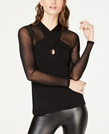 I.N.C. Petite Illusion Top, Created for Macy's