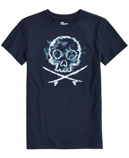 Epic Threads Toddler Boys Skull-Print T-Shirt, Created for Macy's