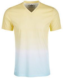 American Rag Men's Double Dip-Dyed V-Neck T-Shirt, Created for Macy's