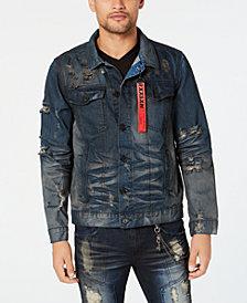 Reason Men's Hardigo Destroyed Denim Jacket
