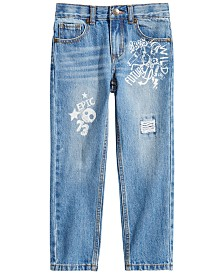 Epic Threads Toddler Boys Graffiti-Print Cotton Denim Jeans, Created for Macy's
