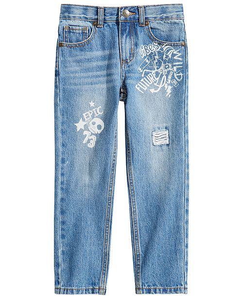 3437edb841a8 ... Epic Threads Toddler Boys Graffiti-Print Cotton Denim Jeans