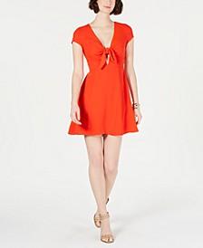 Tie-Front A-Line Dress
