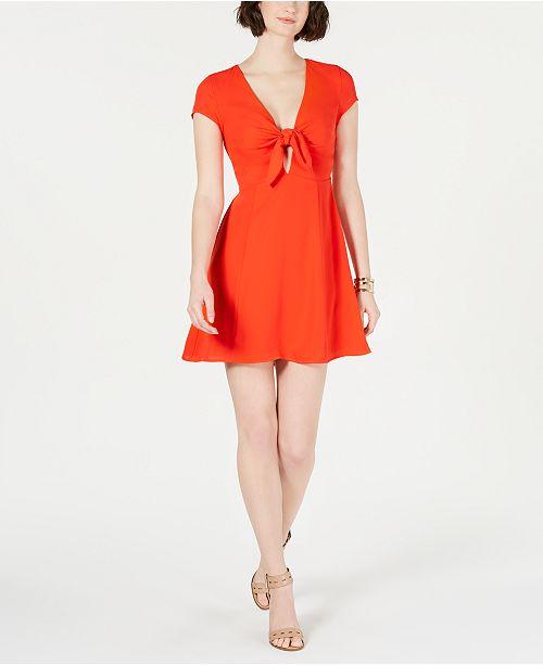 19 Cooper Tie-Front A-Line Dress