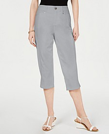 Slit-Hem Curvy-Fit Cropped Pants, Created for Macy's