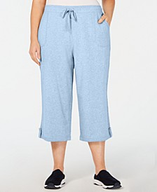 Plus Size Terry Drawstring Capri Pants, Created for Macy's
