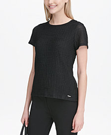 Calvin Klein Petite Textured Knit Top