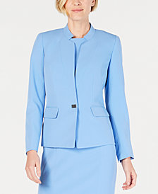 Kasper Petite Star-Neck Jacket