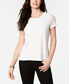 Tommy Hilfiger Short-Sleeve Lace Top