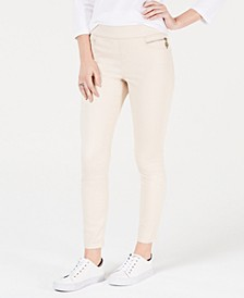 Sateen Skinny Ankle Pants